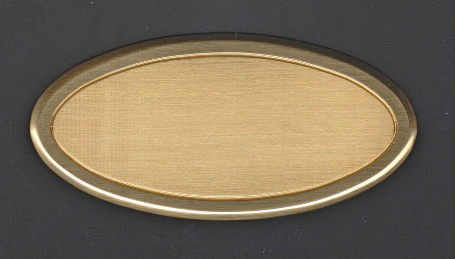 Messing Türschild Gold'n door oval online Gravur gestalten