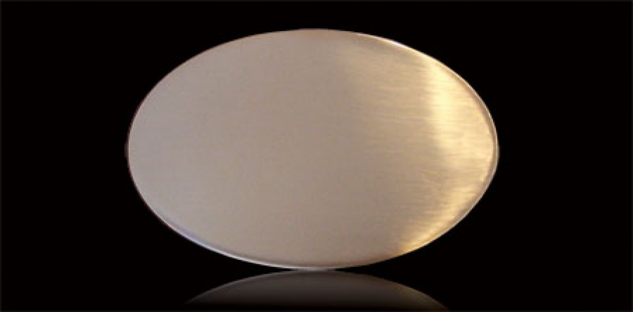 Messing Klebeschild  120 x 75 x 1,5 mm Oval