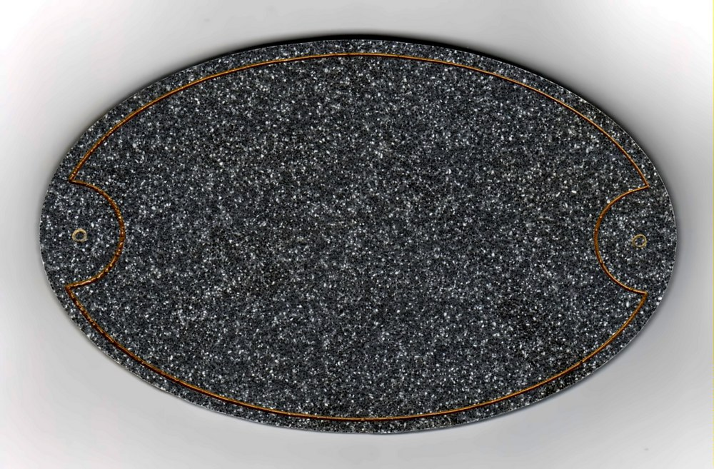 T�rschilder in Granit Design 155 x 95 mm Oval